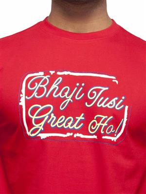 Punjabi Heritage PHB-131 Red Printed Men T-shirt