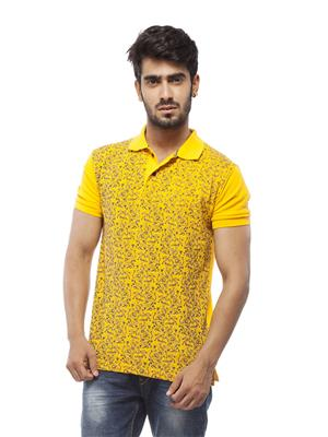 Trendy Bandey Men TB12 Yellow Tshirt