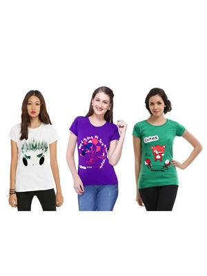 Modish Md-Cmb3-Ppl-Wt-Gn Multicolored Women Top Set Of 3