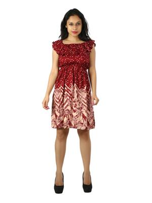 Modish Md-Ctn1002-Rd Multicolored Women Dress