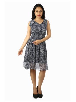 Modish Md-Grgt1003-Bk Multicolored Women Dress