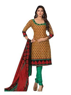 M D Creation Mdrk 5071 Multicolored Women Semi-Stitched Suit