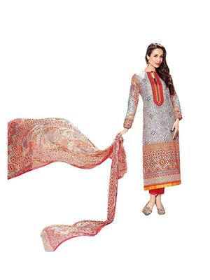 M D Creation Mdr 4106 B Multicolored Women Semi-Stitched Suit