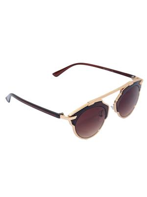 Eye Candy Me-7781-Ce486 Brown Women Round Sunglasses