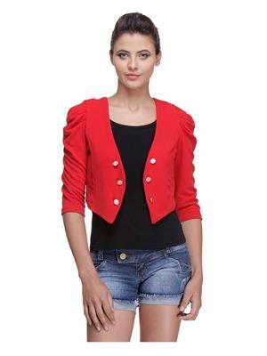 Meee 4641 Red Women Jacket