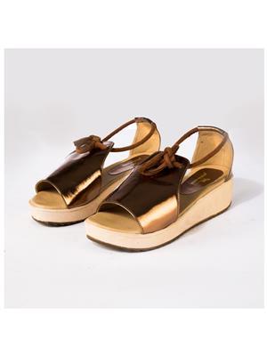 PrideS Walk Metallic01 Gold-Black Women Sandal