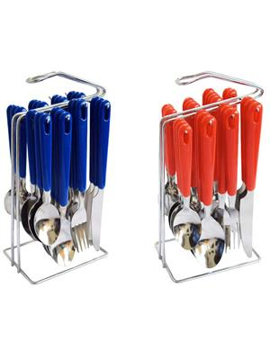 Bemoree MGH24KNS Blue-Red Cutlery Set Of 2