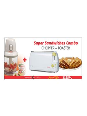 Clearline White Chopper With Toaster