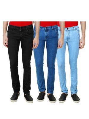 Ansh Fashion Wear Mj-3Cm-R-Jen-29 Multicolored Men Jeans Set Of 3