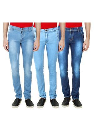 Ansh Fashion Wear Mj-3Cm-R-Jen-45 Blue Men Jeans Set Of 3