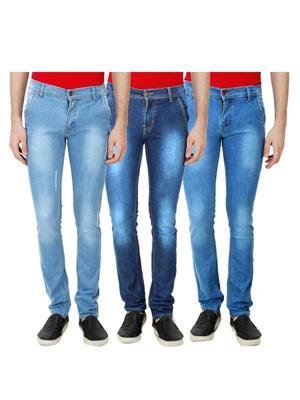 Ansh Fashion Wear Mj-3Cm-R-Jen-46 Blue Men Jeans Set Of 3