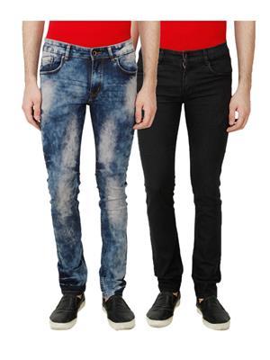 Ansh Fashion Wear MJ-CW2-BLK Multicolored Men Jeans