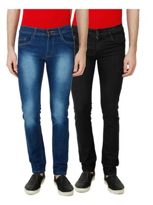 Ansh Fashion Wear MJ-D1-BLACK Men Jeans Set Of 2