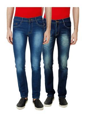 Ansh Fashion Wear MJ-D1-D12 Multicolored Men Jeans Set Of 2