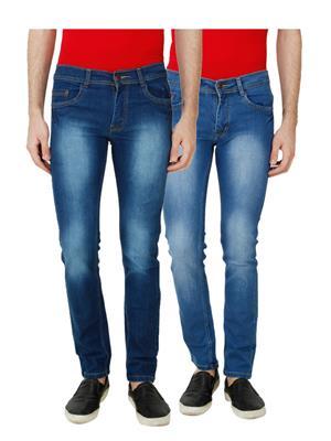 Ansh Fashion Wear MJ-D1-D9 Multicolored Men Jeans Set Of 2