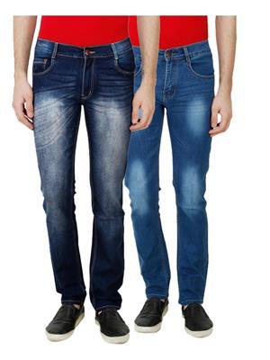 Ansh Fashion Wear MJ-D10-D3 Multicolored Men Jeans Set Of 2