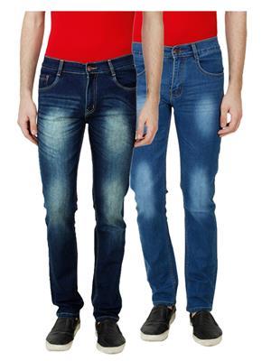 Ansh Fashion Wear MJ-D12-D3 Multicolored Men Jeans Set Of 2