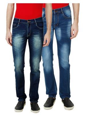 Ansh Fashion Wear MJ-D12-D4 Multicolored Men Jeans Set Of 2