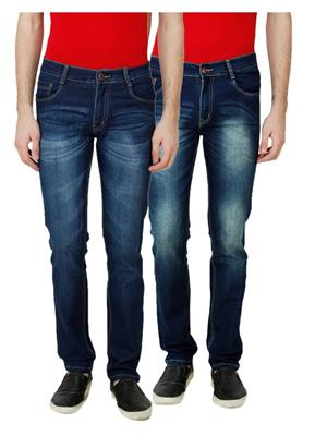 Ansh Fashion Wear MJ-D14-D12 Multicolored Men Jeans Set Of 2