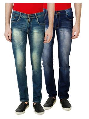 Ansh Fashion Wear MJ-D18-D10 Multicolored Men Jeans Set Of 2