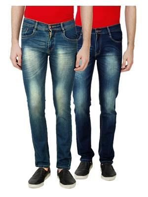 Ansh Fashion Wear MJ-D18-D12 Multicolored Men Jeans Set Of 2