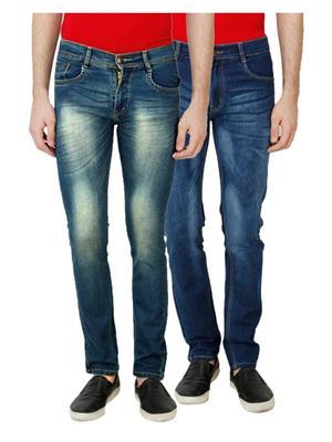 Ansh Fashion Wear MJ-D18-D8 Multicolored Men Jeans Set Of 2