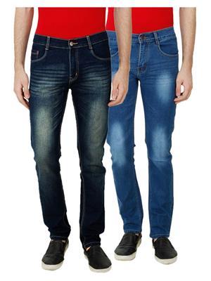 Ansh Fashion Wear MJ-D19-D3 Multicolored Men Jeans Set Of 2