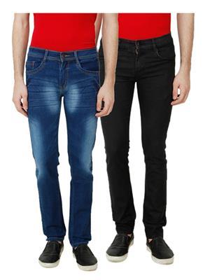 Ansh Fashion Wear MJ-D2-BLACK Men Jeans Set Of 2