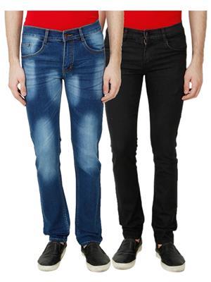 Ansh Fashion Wear MJ-D4-BLACK Men Jeans Set Of 2