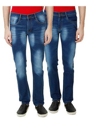 Ansh Fashion Wear MJ-D4-D2 Multicolored Men Jeans Set Of 2