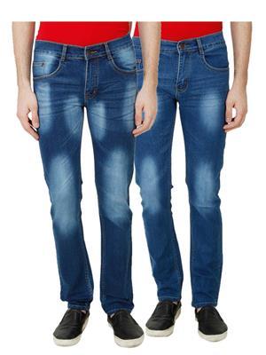 Ansh Fashion Wear MJ-D4-D3 Multicolored Men Jeans Set Of 2