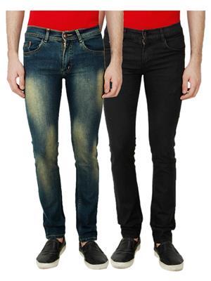 Ansh Fashion Wear MJ-D5-BLACK Men Jeans Set Of 2
