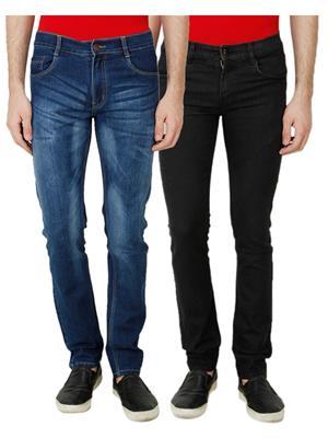 Ansh Fashion Wear MJ-D8-BLACK Men Jeans Set Of 2
