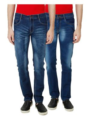 Ansh Fashion Wear MJ-D8-D2 Multicolored Men Jeans Set Of 2