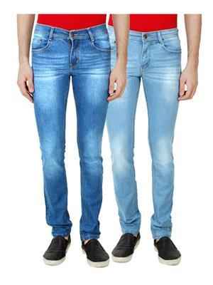Ansh Fashion Wear MJ-RMW-2-RMW-3 Multicolored Men Jeans Set Of 2