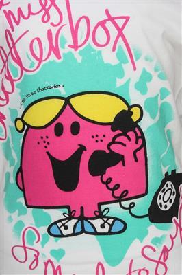 Mr Men Little Miss MM1CGT772 White Girls T-Shirt