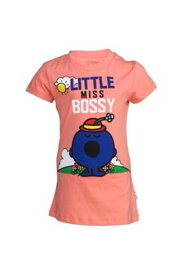 Mr Men Little Miss MM1CGT770 Pink Girls T-Shirt