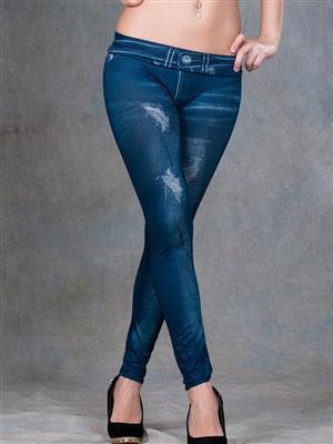 N-Gal NY2091 Blue Women Legging
