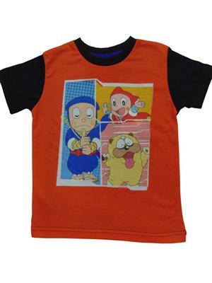 MOTU PATLU MP15  Orange Boys Tshirt