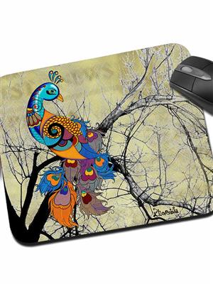 Kolorobia MPPC12 Peacock Cream Mouse Pad