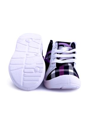 MYSHOEBOXX MSB-KD012 Purple Boys Casual Shoes