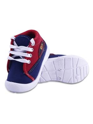 MYSHOEBOXX MSB-KD015 Blue-Red Boys Casual Shoes