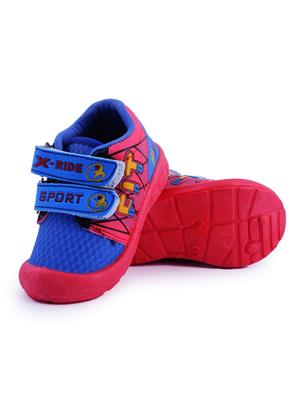 MYSHOEBOXX MSB-KD018 Blue-Red Boys Casual Shoes