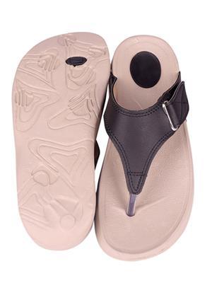 Myshoeboxx Msb-Ld004 Black Women Flip Flops