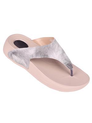 Myshoeboxx Msb-Ld008 Silver Women Flip Flops