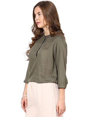 Rose Vanessa RS 086 Trendy Green Stone Top