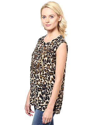 Rose Vanessa RS 124 Embellished Cat Brown Top
