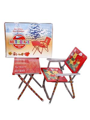 Sv Enterprises Mst001 Red Kids Table With Chair
