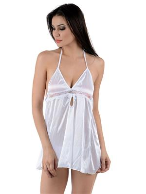 Muquam WH-141026125345 White Women Babydoll