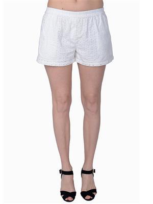 MIWAY MW88  White Women Shorts